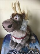 Disney Store Sven Reindeer Kristoff Frozen Large Plush Soft Toy New With Tag..