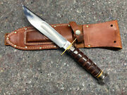 Marbles Pilot Knife Gladstone Mich Usa Vintage Survival W/ Sheath And Stone 16
