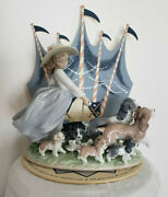 Lladro Figurine Puppy Parade 06784 Rare Collectible Made In Spain Retired