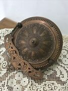 Antique Vtg Bandh Hanging Oil Lamp Pull Down Motor Chain Brass Copper Canopy Parts