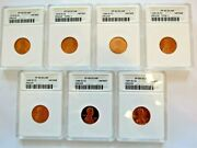 1978-82 1985 1991 S Lincoln Penny Anacs Pf68/69 Dcam Proof - Lot Of 7
