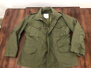 Vintage Authentic Us Army Field Jacket Coat Cold Weather Regular Large W/ Liner