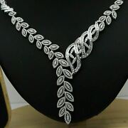 4.50ct Natural Diamond K-l Leaves Necklace Wedding Party 14k White Gold Si1