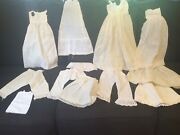 Large Lot Of Antique Doll Undergarments.