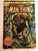 Man-thing 1 Second App. Of Howard The Duck Signed By Steve Gerber