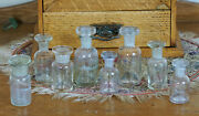 Vintage Pharmacy Apothecary Chemist Glass Bottles Jars Ground Glass Stoppers