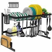 Dish Drying Rack Over The Sink -adjustable Large Dish Rack Drainer For Kitchen O