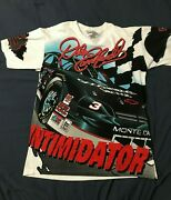 Vintage Chase Dale Earnhardt Intimidator T Shirt Size L All Over Print Read