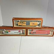 Ho Scale Lot Of Three Tyco Rolling Stock Cars In Box Including Canadian Box Car