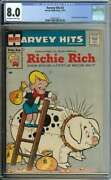 Harvey Hits 3 Cgc 8.0 Ow/wh Pages // 1st Book Devoted To Richie Rich 1957