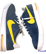 Mens Nike Air Max Bruin Sz 15 Suede Sneakers Shoes 304508 991 Navy Blue Yellow