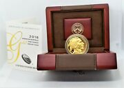 2016 American Buffalo One Ounce Gold Proof Coin West Point Box And Coa