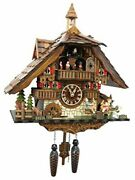 Large German Cuckoo Clock - The Seesaw Mill Chalet With Quartz Movement