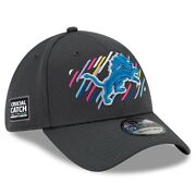 2021 Detroit Lions New Era 39thirty Crucial Catch Sideline On Field Cap Hat