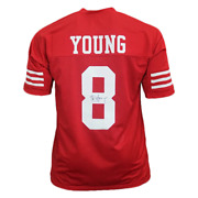 Steve Young Pro Style Autographed Football Jersey Red Jsa