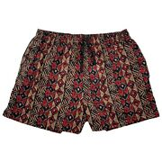 Vtg Givenchy Mens Xl Red Abstract Geometric Mesh Lined Pocket Swim Trunks Shorts