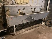 Vintage Alberene Soap Stone Triple Sink With All Legs