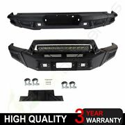 Front / Rear Bumper Full Guard W/ Led Lights D-rings For 2014-2019 Toyota Tundra