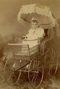 Cabinet Card Photo By Blissenbach Mankato Mn Baby In Wonderful Carriage B6