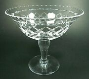 Stuart Crystal 4.5 Compote Sherbet Dessert Bowl Dish Mint With Awesome Ping