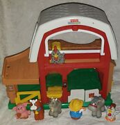 Fisher Price Little People Barn Farm Stable Fun Animal Sounds 5 Figures And Farmer