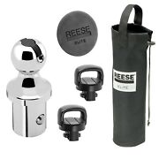 Reese 30140 Gooseneck Trailer Hitch With Storage Bag/safety Chains/hole Cover