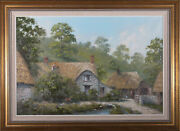 George Horne - 20th Century Oil The Old Forge In Branscombe Devon