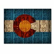 Colorado State Flag License Plates By Design Turnpike 24x32-inch Canvas Wall Art