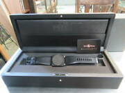 Bell And Ross Menand039s Watch Br03-92 Phantom Black Dial Rubber Band 42 Mm Boxed