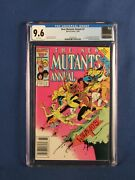 Marvel Comics Cgc 9.6 The New Mutants Annual 2 10/86 White Pages