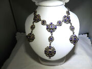 Antique Amethyst And Silver Necklace, Late 19th C / Early 20th C