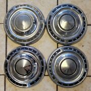 1960and039s 1970and039s Pontiac Motor Division Classic Dog Dish Center Caps Hubcaps Used