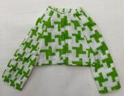 Vintage Barbie Skipper Young Ideas 1513 Green And White Check Jacket 303-28