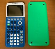 Texas Instruments Ti-84 Plus Ce Graphing Calculator - Blue W/green Cover