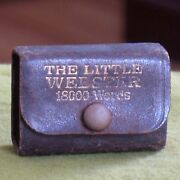 Antique Lilliput Dictionary The Little Webster 18000 Words - Leather Covered