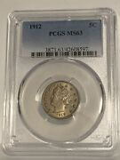 1912 Liberty V Nickel Pcgs Ms 63 Nice Luster Crisp Appearance Champagne Hint