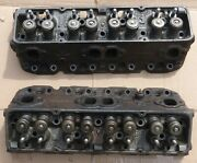 Scarce Late 70s-mid 80s 262/267/305 Sbc Heads 354434 Complete W/valves And Springs