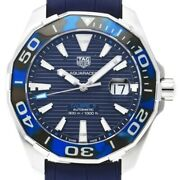 Tag Heuer Aquaracer Caliber 5 Way201p.ft6178 Automatic Menand039s 43mm Blue Dial 300m