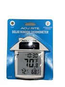 Acurite Solar Powered Digital Window Thermometer Indoor Or Outdoor Temp And Clock