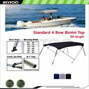 Scitoo 4bow Bimini Top Boat Cover 8ft Length 54 H 61-96 W Black/gray/blue