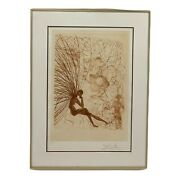 Salvador Dalandiacute Napoleon And The Angel Hand Signed Etching Painting 1986