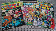 Marvel Two In One The Thing Thor Lot 9-22-23 Fn/vf Nice Avengers