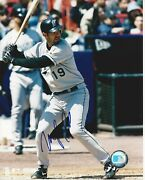 Mike Lowell Autographed 8x10 Florida Marlins Free Shipping S1070
