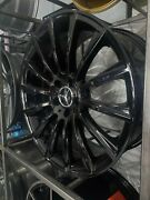 22 Gloss Black Turbine Style Staggered Rims For Benz S Class S550 W221 W222
