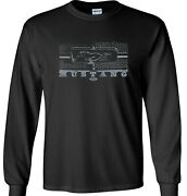 Ford Mustang Grill Long Sleeve Shirt Honeycomb Grille
