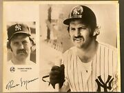 Thurman Munson Yankees Autograph Signed 8x10 Photo Real Jsa Authenticated