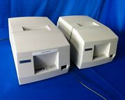 Lot Of 2 Epson Tm-u325pd M133a Pos Receipt / Validation Printers - For Parts