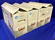 Lot Of 4 Hp Deskjet 1112 Compact Color Inkjet Printers - All Power On -for Parts