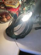 Vintage Mechanic Trouble Work Drop Light W/30' Cord Toggle Switch And Outlet