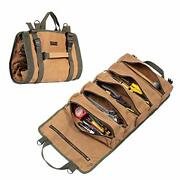Wrench Tool Roll Bag, Heavy Duty Waxed Canvas Multi-purpose Tool Organize Bag...